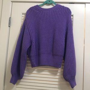 Bardot Purple Knit Sweater
